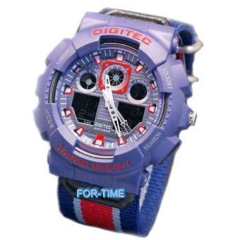 jual digitec original dg2109m jam tangan pria dual