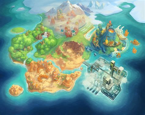 design game map the art of mary shu game environment art concept art