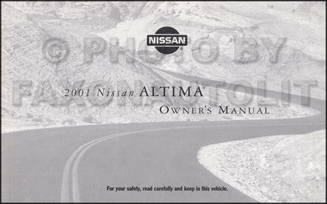 car engine repair manual 2001 nissan altima instrument cluster 2001 nissan altima repair shop manual set original