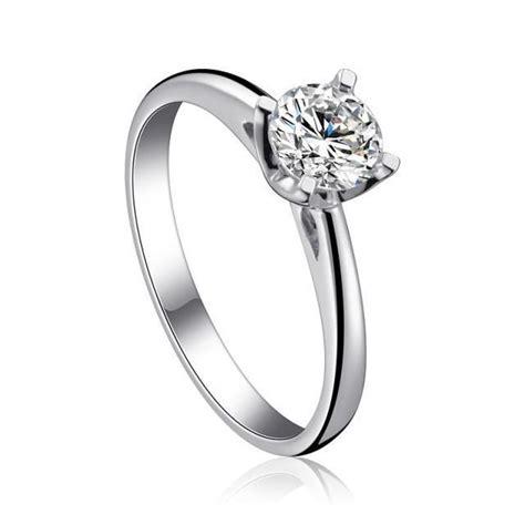 100 925 sterling silver platinum engagement ring