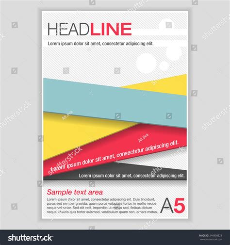 simple flyer template brochure color ribbons stock vector