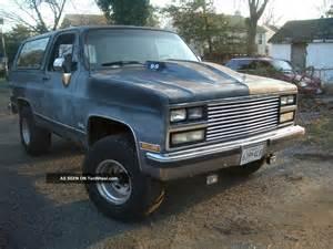 1989 Chevrolet Blazer 1989 Chevrolet Blazer Silverado Sport Utility 2 Door 5 7l