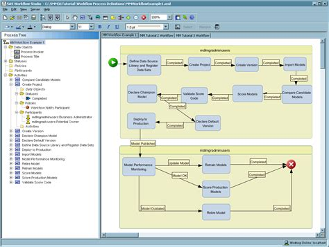 workflow studios prepare for using sas workflow sas r model manager 3 1