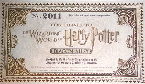 printable tickets universal studios orlando diagon alley invite unboxing for wizarding world of harry
