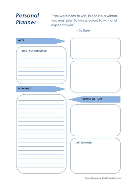 day planner template printable daily planner template free printable templates