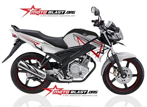 modif striping yamaha vixion black white simple 2014 motoblast