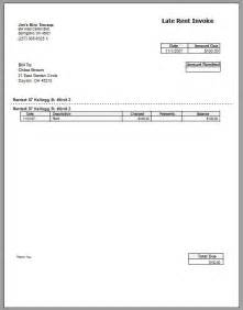 invoice template for rent late rent invoice