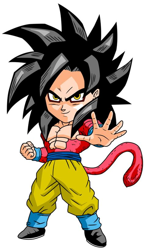 dragon ball z chibi wallpaper goku ssj4 chibi by dbzartist94 on deviantart