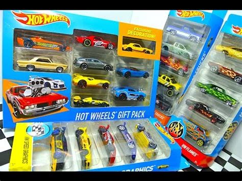 Wheels Gift Pack Wheels 10 wheels unboxing 9 car gift pack hw flames speed