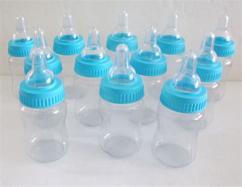 Baby Shower Bottles by Baby Blue Shower Favor Bottles 1 Dozen