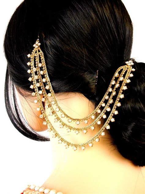 pakistani hair style jura details about three row jura chain pakistani matha patti