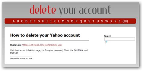 how to delete your yahoo mail account easy deleteyouraccount is a guide to delete accounts from any