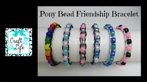 craft pony bead friendship bracelet tutorial