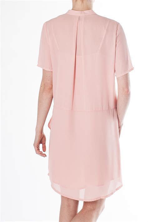 Sale Dress Import 11472 Pink Apricot everly shirt dress from canada by mad about style shoptiques
