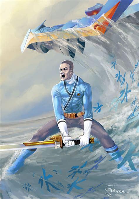 painting of power rangers samurai blue power rangers samurai by sopeh on deviantart