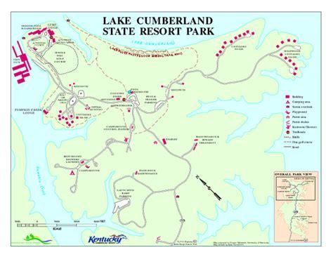 kentucky lake map pdf lake cumberland state resort park map b vacation