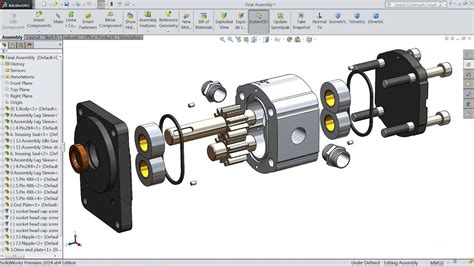 Solidworks solidworks tutorial how to make hydraulic pump in