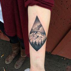 simple volcano tattoo double diamond mountain tattoo ink it pinterest