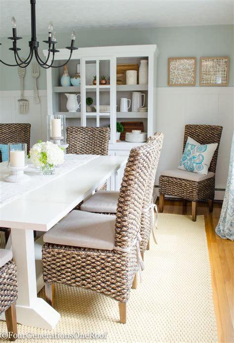 coastal dining room table dining room makeover coastal coastal farmhouse trestle