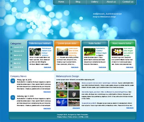 templates of website web design blog 187 free xhtml css templates for different