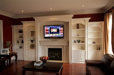 hand crafted built in wall unit for widescreen tv in wall units custom millwork wainscot paneling