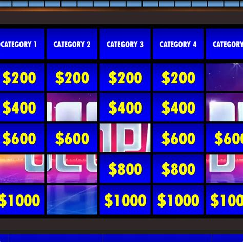 free jeopardy template jeopardy templates
