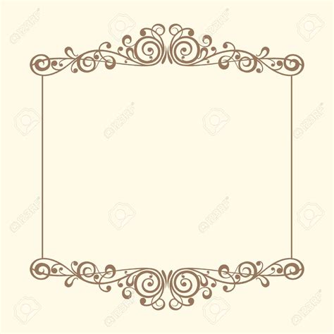 Wedding Paper With Border by Vintage Wedding Border Clipart 60