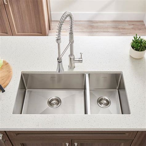 Where To Buy Sinks For Kitchen by Pekoe 35x18 Inch Offset Bowl Kitchen Sink
