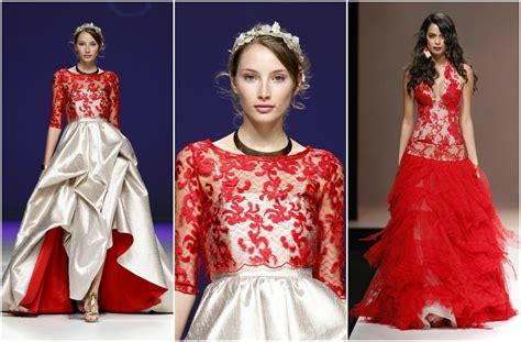 imagenes de vestidos de novia con detalles rojos vestido novia con detalles rojos vestido de novia