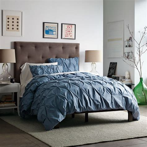 blue pintuck comforter organic cotton pintuck duvet cover and shams bedroom