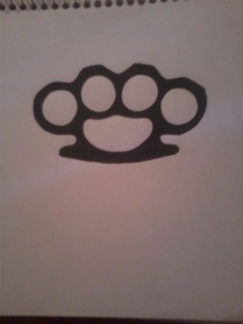 brass knuckles tattoo brass knuckles outline www imgkid the image kid