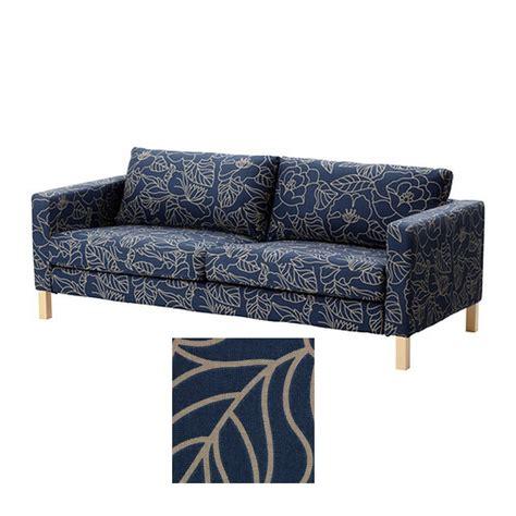 ikea slipcover pattern ikea karlstad 3 seat sofa slipcover cover bladaker blue