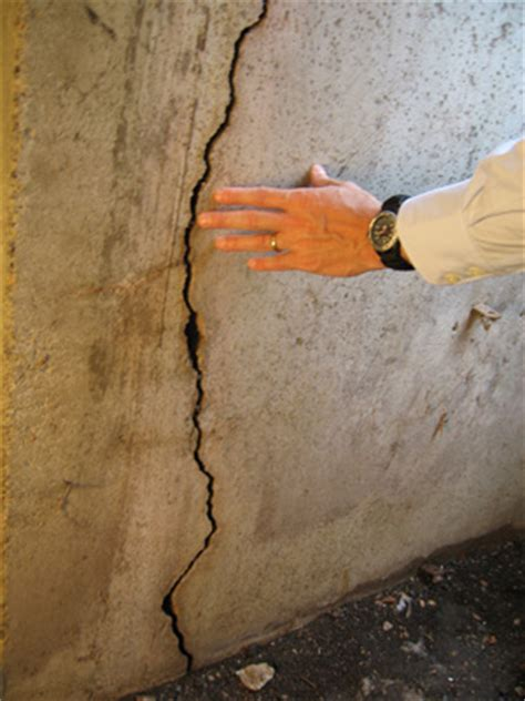 foundation wall cracks repair information for settling or bowing foundations