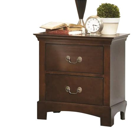 2 drawer nightstand espresso coaster tatiana two drawer nightstand in espresso 202392