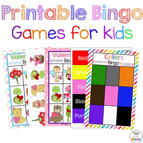 printable games for students free printable bingo cards for kids fun with mama
