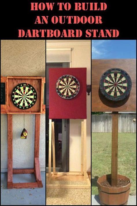 build  diy dartboard stand play outdoors  double  fun dart board