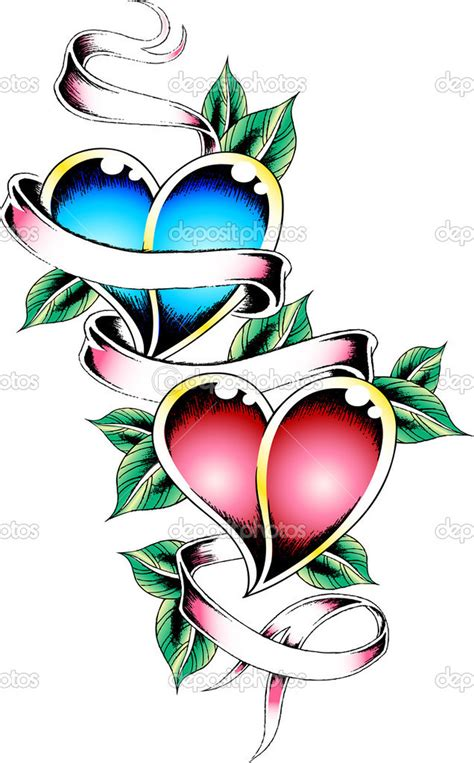 heart tattoo designs with banner with banner designs tattoos book