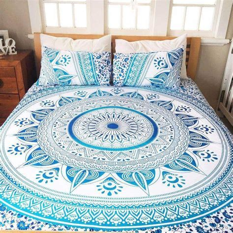 mandala bed sheets queen ahimsa mandala bed set the yoga mandala store