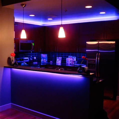 Rgb Led Kitchen Using Led Strip Lights Led Lighting For Kitchens