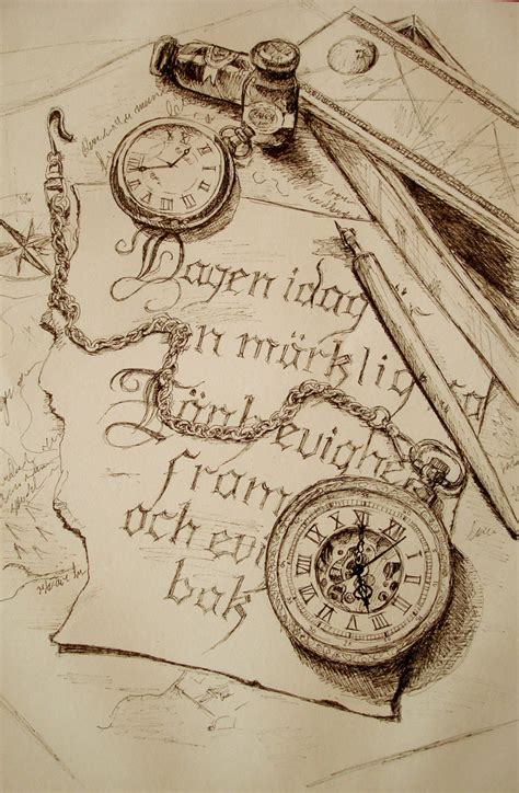 sketch pocket watch by ulltotten on deviantart