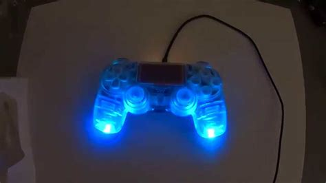 light to controller custom modded led ps4 controller clear faceplate shell w