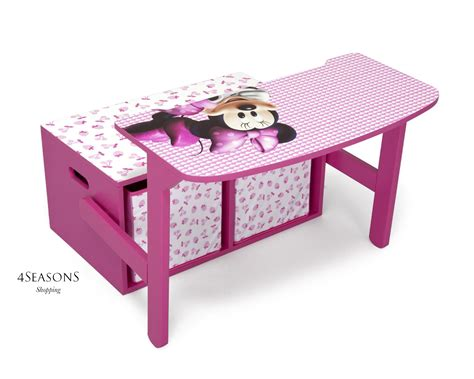 minnie mouse toddler chair desk with bonus storage bin minnie mouse storage box desk wooden chest