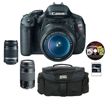 canon t3i dslr canon t3i dslr 3 lens kit w accessories