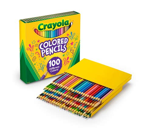 crayola 100 colored pencils crayola different colored pencils 100 count