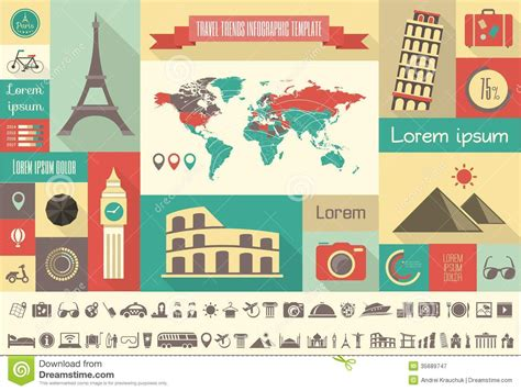 Travel Infographic Template Travel Infographic Template Stock Vector Image 35689747