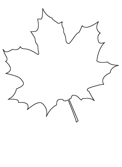 maple leaf printable template maple leaf coloring pages barriee