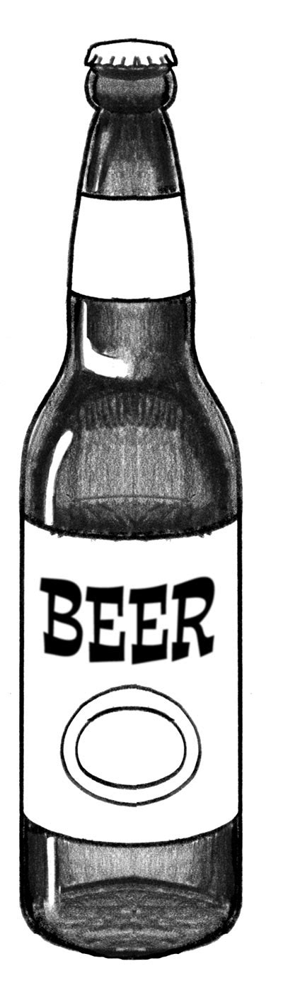 image of beer bottle clipart 4446 beer drawing clipartoons beer bottles drawing