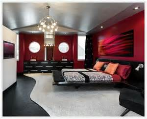 Black Bedroom Furniture What Color Walls How Decorate Red Wall Bedroom Home Interior Design 39586