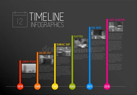 typography timeline vector infographic typography timeline report template stock vector image 76425811