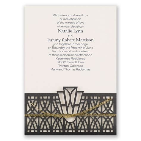 Wedding Invitations Deco by Deco Adoration Laser Cut Invitation Invitations By